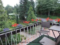 kleiner Balkon an der Ferienwohnung
